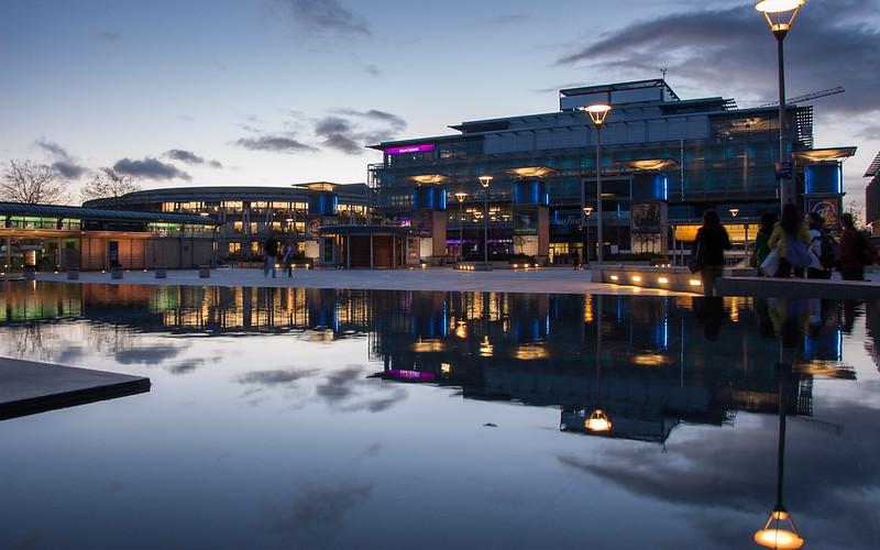 Sunset in Bristol's Millennium Square