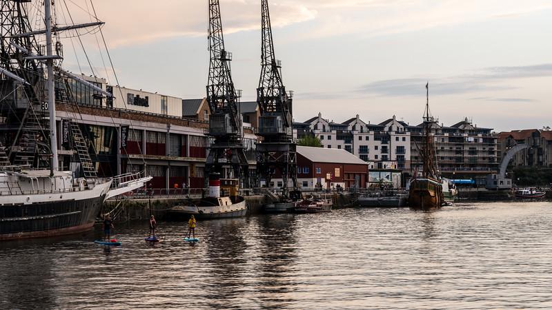 Paddleboarding on Bristol Harbour