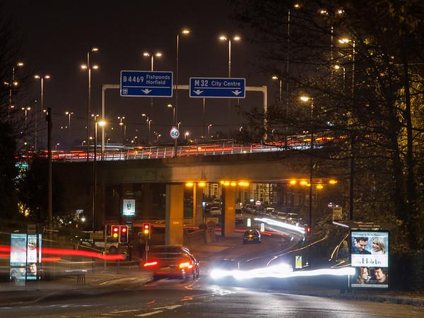 M32 traffic in Bristol