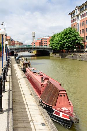 Narrowboats on Bristol Harbour