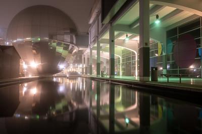 Misty night in Millennium Square
