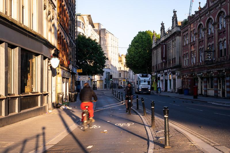 Cycling on Baldwin Street