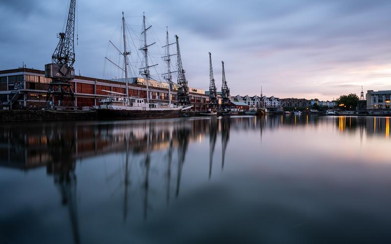 Sunset on Bristol Harbour
