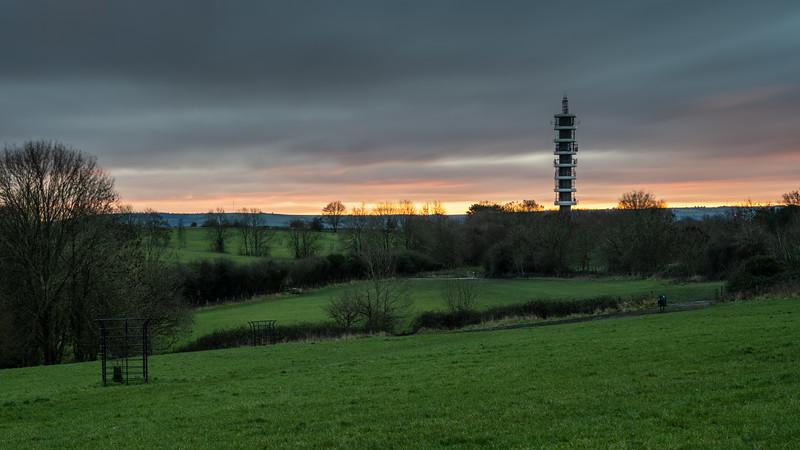 Stoke Park sunset