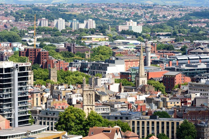Central Bristol cityscape