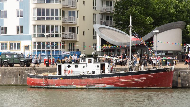 Boat on Bristol Harbour