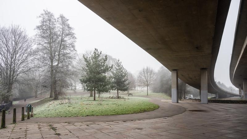 Eastville Park and M32 motorway