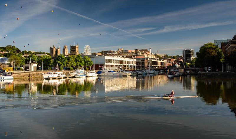 Rowing in Bristol Harbour