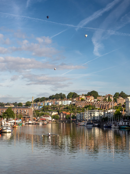 Morning ascent on Bristol Harbour