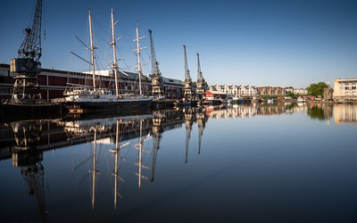 Reflections in Bristol Harbour