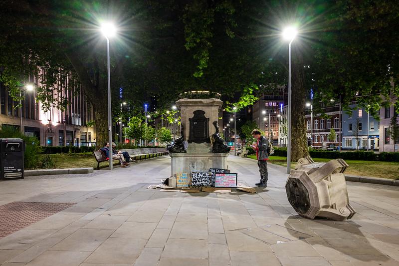 Edward Colston statue plinth