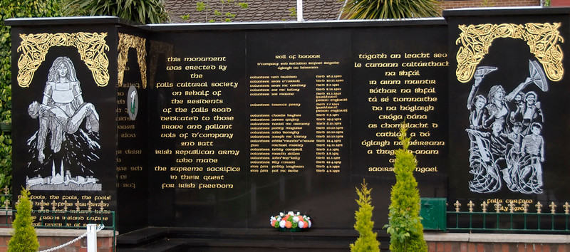 IRA garden of remembrance, Falls Road, Belfast, 7 May 2009 3