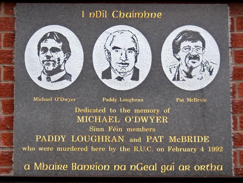 Sinn Fein memorials, Falls Road, Belfast, 7 May 2009 3
