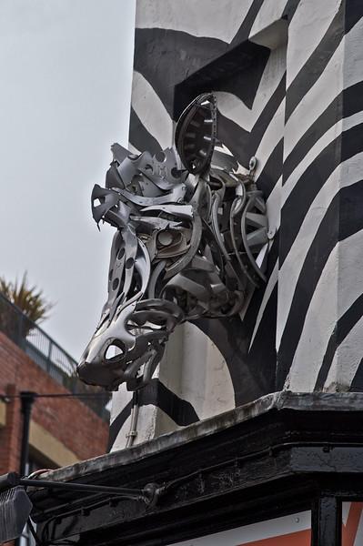 Zebra in Metal
