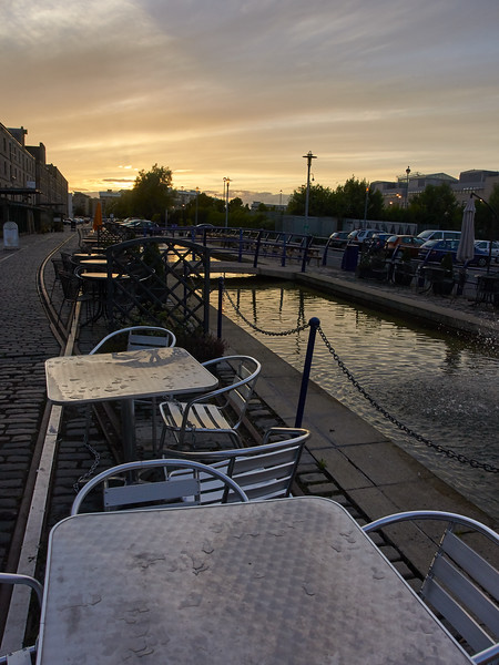 Tables by the Canal