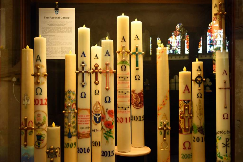 Paschal (Easter) candles, Canterbury Cathedral, 10 May 2017 2.