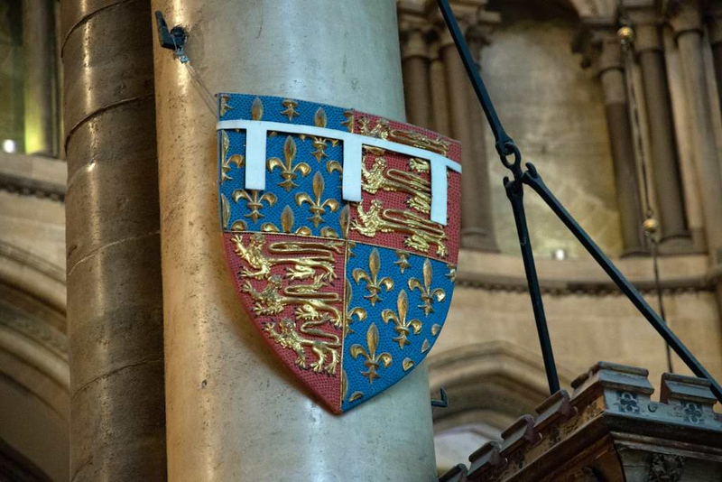 Tomb of the Black Prince, Canterbury Cathedral, 10 May 2017 1.  Replica of the prince's shield.