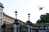 US Marine Corps Sikorsky VH-3D Sea King 159356, approaching Buckingham Palace, London, 3 June 2019.  One of these Sea Kings was carrying President Trump to the Queen's state banquet; both landed in the palace grounds.