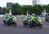Motorcycle police, Buckingham Palace, 3 June 2019.
