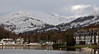 Low Pike, on the eastern arm of the Fairfield horseshoe, and Ambleside youth hostel (right), from Windermere, 23 January 2009