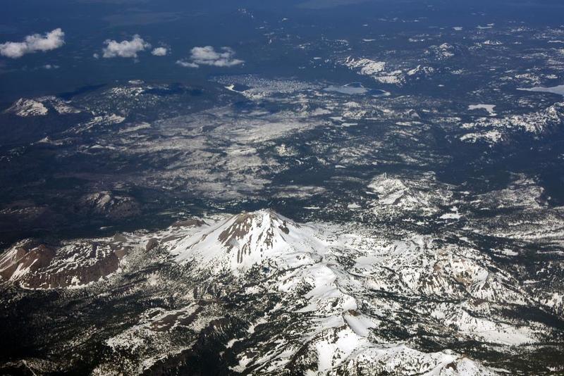 Lassen Peak, California, 11 May 2019 - 1709. An active volcano.
