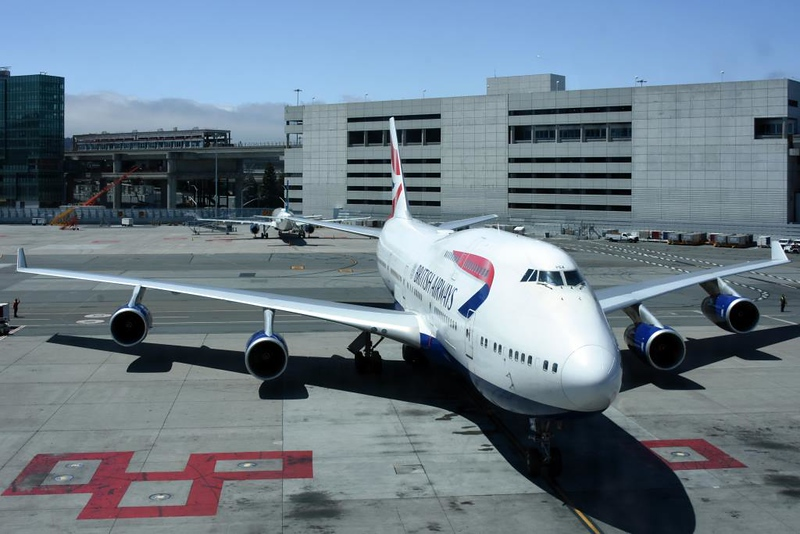 British Airways Boeing 747-400 G-BYGA, San Francisco Airport, 11 May 2019 - 1414.  Arriving on BA285 from LHR (1120) where it will return at 1630 as BA284.  My ride home.