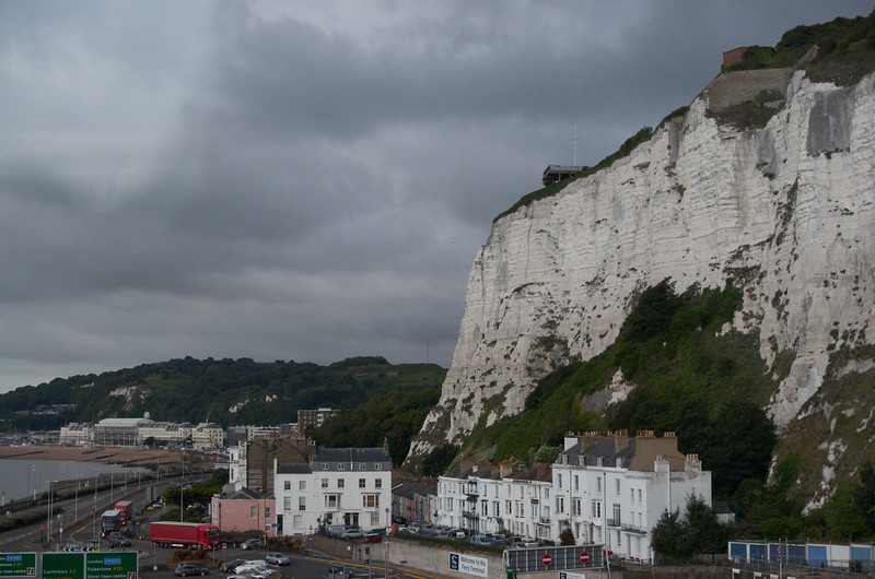 Cliffs and town