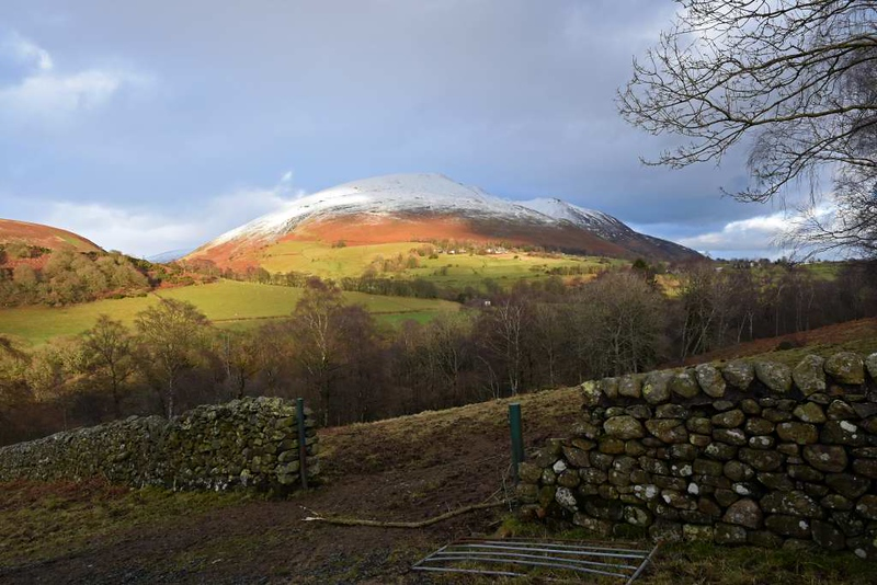 Blencathra from the A66 west of Threlkeld, 16 December 2019.