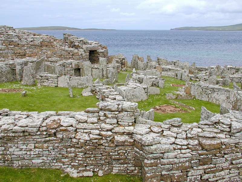 Broch of Gurness about 2000 years old, occupied by both picts and Vikings