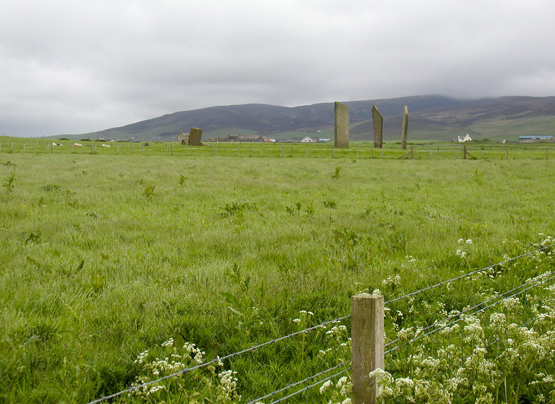 The old and the new - The Stones of Stenness