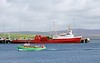 Fishing boat Merlin II & ferry Orcadia, Stromness, Orkney, 25 May 2015