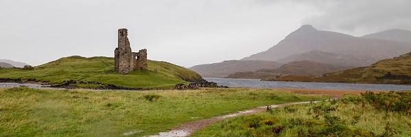 Ardvreck Castle, on Loch Assynt near Lochinver