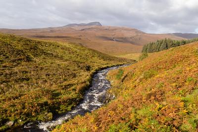Autumn in the Northwest Highlands, near Lochinver, Assynt