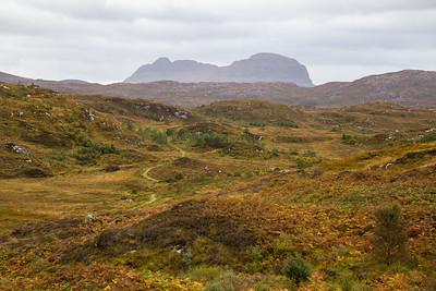 Autumn in the Northwest Highlands near Lochinver, with Suilven in Background