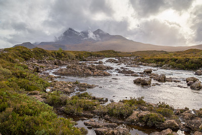 Sligachan River and the Black Cuillins, Skye