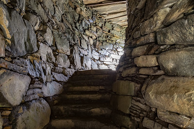 Interior of Dun Trodden Broch, Glenelg