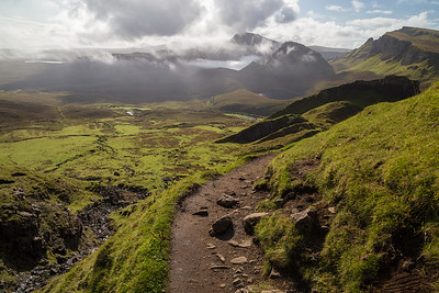 Trail in the Quiraing, Skye