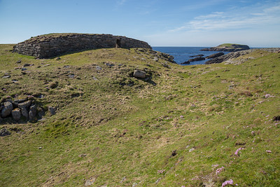 Iron Age Blockhouse at the Ness of Burgi, Shetland