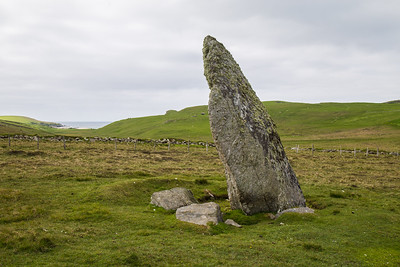 Standing Stone on Unst, Shetland