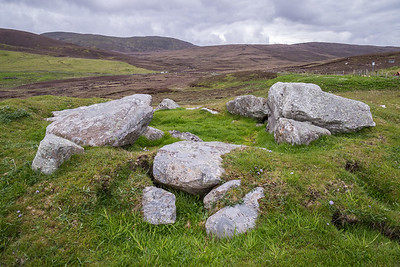Remains of an ancient tomb, Shetland