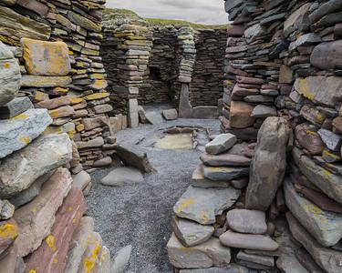 2,000 year old house at Jarlshof, Shetland
