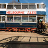 A vintage tram at the National Tramway Museum,Crich,Derbyshire,UK