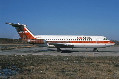 USAir BAC 1-11 203AE N1548 (msn 042) PIT (Elliot H. Greenman - Bruce Drum Collection). Image: 101051.