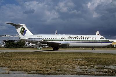 Cascade Airways BAC 1-11 201AC N103EX (msn 010) MIA (Bruce Drum). Image: 103356.