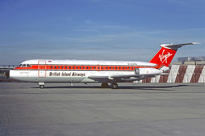 British Island Airways-BIA-Virgin Atlantic Airways BAC 1-11 432FD G-AXMU (msn 157) LGW (Christian Volpati Collection). Image: 913290.