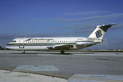 Challenge International Airlines BAC 1-11 401AK N218CA (msn 089) (Cascade Airways colors) MIA (Bruce Drum). Image: 103833.