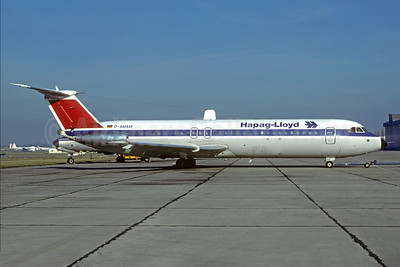 Hapag-Lloyd Flug BAC 1-11 515FB D-AMAM (msn 229) (Bavaria Germanair colors) LBG (Christian Volpati). Image: 927687.