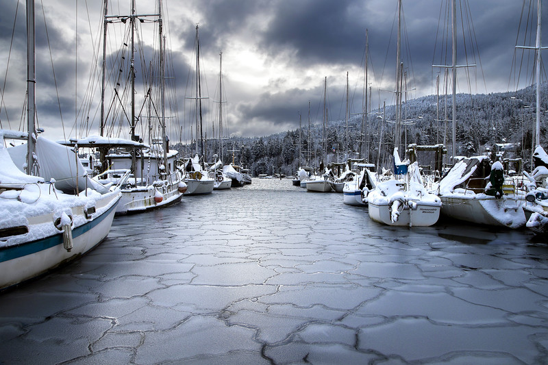 Safe Harbour  -- winter on Salt Spring Island BC Canada