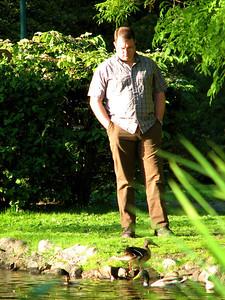 Joel stalking the ducks