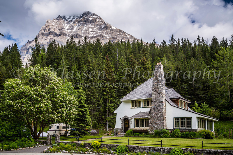 A home in the town of Field, British Columbia, Canada.